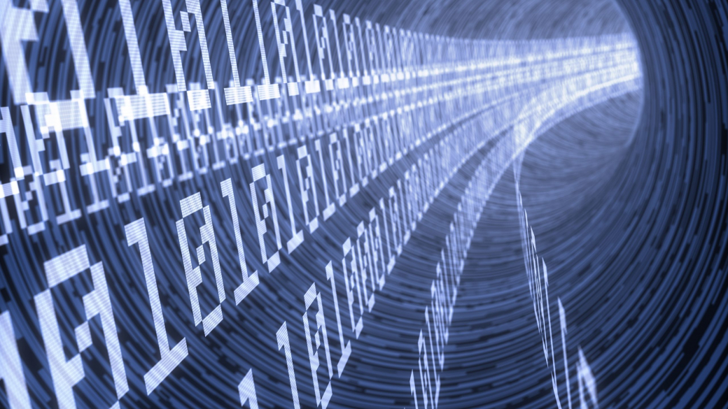 Lines,Of,Binary,Codes,Traveling,Through,The,Virtual,Tunnel
